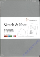 Hahnemühle Skizzenbuch Sketch & Note Grey/Pink Bundle Din A5