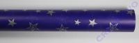 Transparentpapier Silver Stars blau