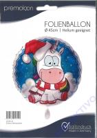 Folienballon Einhorn Weihnachten