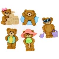 Dresse it up Deko-Knöpfe - Summer Bears