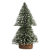 Deko-Tannenbaum beschneit, 15cm, grün