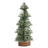 Deko-Tannenbaum beschneit, 25cm, grün