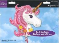 Folienballon Einhorn pink 83x73cm