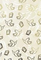 Bastelkarton Spirit Din A4 - Tauben und Bibeln, gold (Restbestand)