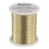 Elastic-Faden gold
