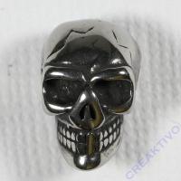 Edelstahl-Perle Schädel