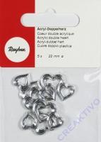 Acryl-Doppelherzen