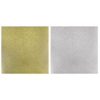 Scrap.-Papier Metalleffekt gebürstet gold/silber