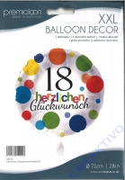Folienballon Herzlichen Glückwunsch Punkte 18 - 71cm