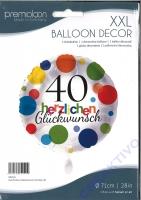 Folienballon Herzlichen Glückwunsch Punkte 40 - 71cm