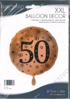 Folienballon Zahl 50 - Gold 71cm