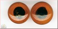 Glastieraugen zum Aufnähen, braun, 14 mm ø, SB-Btl. 6 Stück