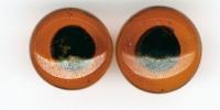 Glastieraugen zum Aufnähen, braun, 12 mm ø, SB-Btl. 10 Stück