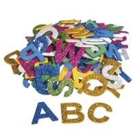 Moosgummi Alphabet Glitter