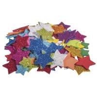 Moosgummi Sterne Glitter