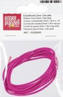 Elastikkordel 2mm pink