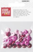 Holzlinsenmix 10mm rosa pink 33 Stück