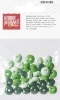 Holzlinsenmix 10mm grün 33 Stück