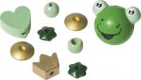 Holzperlen Mix Frosch 11 Stück