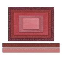 Sizzix Thinlits Die Set 7PK - Stitched Rectangles