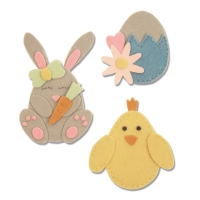 Sizzix Bigz L Die - Bunny, Chick and Egg