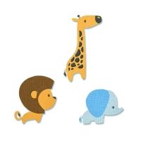 Sizzix Thinlits Die set 9PK - Baby Jungle Animals