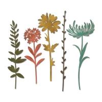 Sizzix Thinlits Die Set 5PK - Wildflower Stems #1