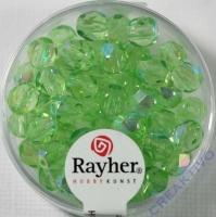 Glas-Schliffperlen, 6 mm ø irisierend jaspis