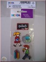 Heyda 6 Textilsticker Schule