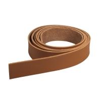 Kunstlederband flach 2cm rehbraun