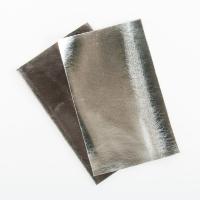 Metallic Kunstleder brillant silber