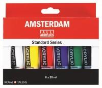 Amsterdam Acrylics - 6 x 20ml Grundfarben