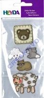 Heyda 6 Textilsticker Tierbabys