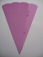 Schultüte aus 3D Wellkarton 69cm rosa