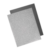 Metallic Bügel-Transferfolie silber
