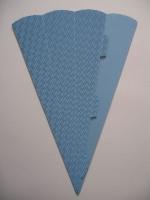 Schultüte aus 3D Wellkarton 69cm hellblau