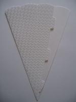 Schultüte aus 3D Wellkarton 69cm weiß