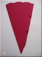 Schultüte aus 3D Wellkarton 69cm pink