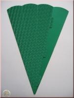 Schultüte aus 3D Wellkarton 69cm grün