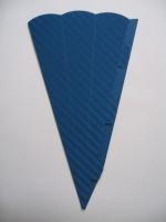 Schultüte aus 3D Wellkarton 69cm blau