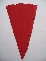 Schultüte aus 3D Wellkarton 69cm rot