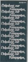 Rayher Stickerbogen Einladung zur Kommunion silber glänzend