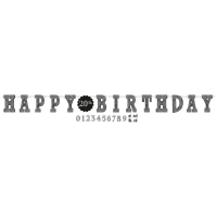 Girlande Happy Birthday Chalkboard