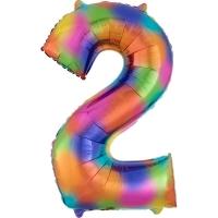 Folien-Ballon 2 regenbogen 86cm