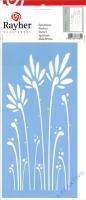 Schablone 15 x 30 cm Gräser