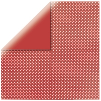 Rayher Scrapbook-Papier Glitter-Dots klassikrot