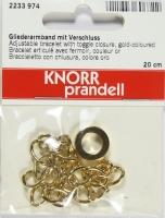 Gliederarmband mit Verschluss gold
