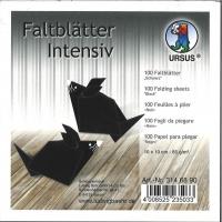 Faltblätter 10x10cm schwarz