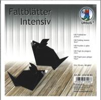 Faltblätter 15x15cm schwarz