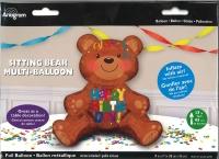 Multi Balloon Bär Happy Birthday Folienballon 43 x 48 cm